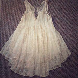 Free people creme lace dress